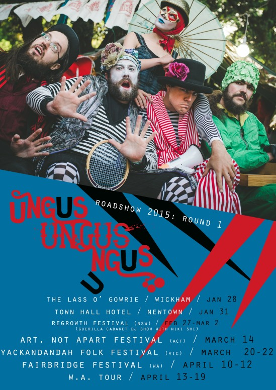 ungus 2015 tour poster ROUND 1